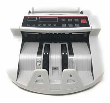 Professionelle Banknotenzähler mit Falschgeld-Detektor und 2 LED-Displays - 6