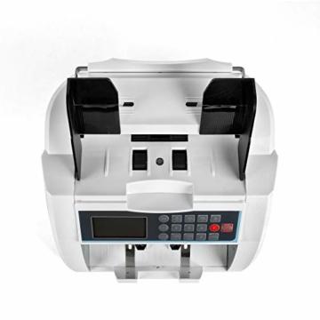 QWERTOUY Banknotenzähler mit UV- / MG- / IR- / DD-Erkennung Geeignet für Banknotenzähler mit Mehreren Währungen - 3