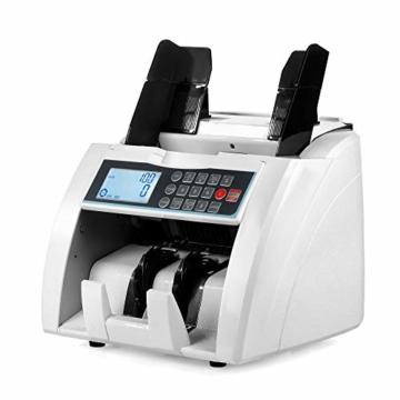 QWERTOUY Banknotenzähler mit UV- / MG- / IR- / DD-Erkennung Geeignet für Banknotenzähler mit Mehreren Währungen - 4