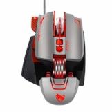 QZVOO Gaming Maus Mouse PC Maus mit Kabel Gamer Maus Ergonomische Vertikal Computermaus 8-Tasten Programmierbar 1200-3200 DPI 3D für Laptop Gaming mäuse zubehör PS4 - 1