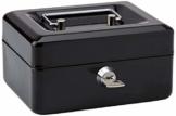 Rapesco SB0006B1 Geldkassette mit Schlüssel (15 cm,mit Münzfach) Schwarz - 1