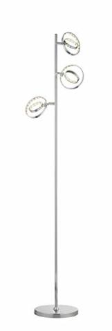 Reality Leuchten LED Stehleuchte Prater in Chrom, 3x4,5 Watt LED, Energieklasse A+ - 1