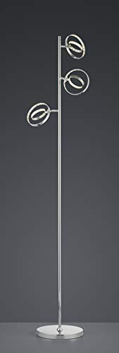 Reality Leuchten LED Stehleuchte Prater in Chrom, 3x4,5 Watt LED, Energieklasse A+ - 4
