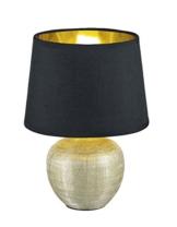 Reality Leuchten R50621079 Luxor, Tischleuchte, Keramik, E14, Gold, 18 x 18 x 26 cm - 1