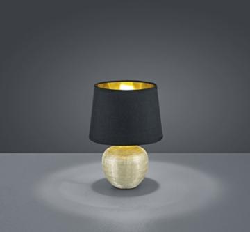 Reality Leuchten R50621079 Luxor, Tischleuchte, Keramik, E14, Gold, 18 x 18 x 26 cm - 2