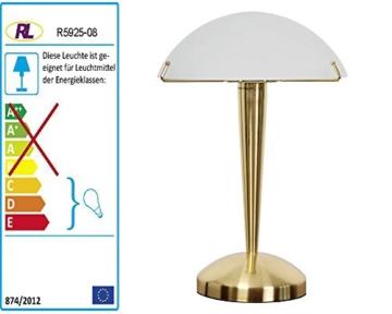 Reality|Trio Tischleuchte Tischlampe Touch Me, 35cm ~ Messing matt - 4