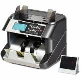 RELAX4LIFE Geldzählmaschine, Geldzähler mit Zählanzeige & Addition- & Erkennungsfunktion, Geldscheinzähler manueller & automatischer Startauswahl, Banknotenzähler für Euro & Pfund & Dollar - 1