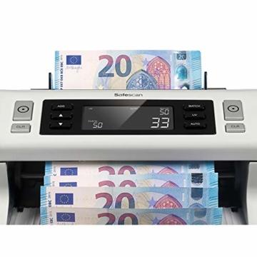 Safescan Automatischer Banknotenzähler - UV-Falschgelderkennung, SAFESCAN 2210 - Banknotenzähler Geldzählmaschinen - 2