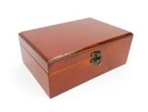 Schmuckschatulle Geldkassette Kästchen Schmuckkästchen Holz Farbe Mahagonie Braun 22cm - 1