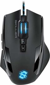 Sharkoon Skiller SGM1 Gaming Maus mit Makrotasten (10800 DPI, RGB-Beleuchtung, 12 Tasten, Weight-Tuning-System und Software) schwarz - 1