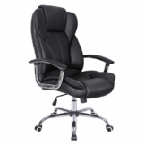 SONGMICS Bürostuhl Chefsessel Drehstuhl Computerstuhl Sitzhöhenverstellung office Stuhl Polsterung OBG57B - 1