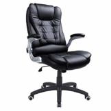 SONGMICS Racing Stuhl Bürostuhl Gaming Stuhl Chefsessel Drehstuhl PU, schwarz, OBG51B - 1