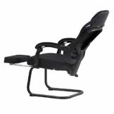 Stuhl Computerstuhl, Handlauf verbunden Bionic Ergonomics Bow Bracket 150 ° Liegefunktion Heimbürostuhl Sitz 2 Farben (Farbe : Schwarz) - 1