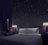 TALINU Sternenhimmel aus 368 Leuchtpunkten mit starker Leuchtkraft - Leuchtsterne, Wandsticker Sterne, Leuchtaufkleber, Fluoreszierend und im Dunkeln leuchtend - 1