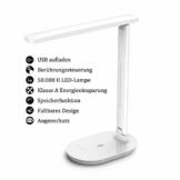 TaoTronics Schreibtischlampe LED, Memory Funktion Tischlampe, 3 Farb und 5 Helligkeitsstufen Dimmbar Tischleuchte mit Touchbedienung, Tragbar, Augenschutz für Büro, Lesen, Studieren - 1