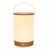 Tischlampe LED TaoTronics Vintage Nachttischlampe mit RGB Farbwechsel 256 Farbe, Touch-Bedienung, 4000mAh Akku, Merkfunktion (Mehrfarbig, Stufenlos Dimmbar, Tragbar, 110 Stunden Betrieb, Holzoptik) - 1