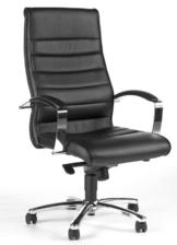 Topstar Designer-Luxus-Chefsessel, Bürostuhl, Leder, schwarz - 1