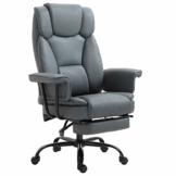 Vinsetto Bürostuhl Chefsessel Computerstuhl höhenverstellbar mit Fußstütze 360° PU 68 x 80 x 120–126 cm - 1