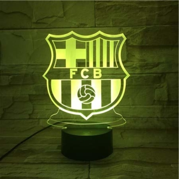 WoloShop LED-Lampe/LED-Nachtlicht mit Farbwechsel, Design: FC Barcelona, Aufladung per USB - 3