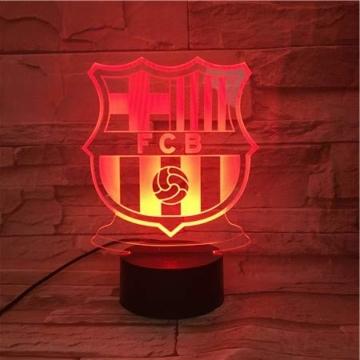 WoloShop LED-Lampe/LED-Nachtlicht mit Farbwechsel, Design: FC Barcelona, Aufladung per USB - 4