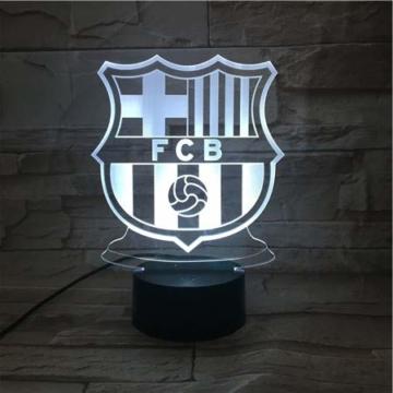 WoloShop LED-Lampe/LED-Nachtlicht mit Farbwechsel, Design: FC Barcelona, Aufladung per USB - 1