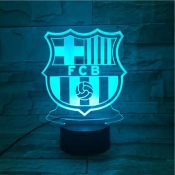 WoloShop LED-Lampe/LED-Nachtlicht mit Farbwechsel, Design: FC Barcelona, Aufladung per USB - 5