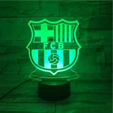 WoloShop LED-Lampe/LED-Nachtlicht mit Farbwechsel, Design: FC Barcelona, Aufladung per USB - 6