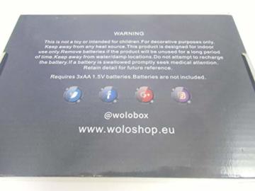 WoloShop LED-Lampe/LED-Nachtlicht mit Farbwechsel, Design: FC Barcelona, Aufladung per USB - 7