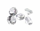 50 Dekosteine Diamanten Ø 20 mm transparent natur klar kristallklar Tischdekoration Streuartikel Hochzeit Taufe - 1