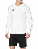 adidas Herren CORE18 Hoody Sweatshirt, White, L - 1