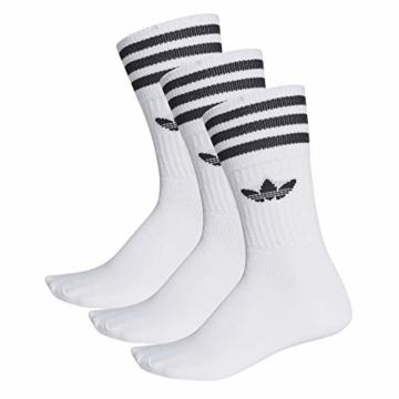 Adidas Solid Crew Socks Socken 3er Pack (43-46, white/black) - 1
