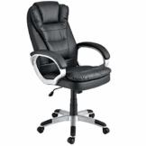 ArtLife Bürostuhl Orlando ergonomisch - Schreibtischstuhl höhenverstellbar mit Armlehnen, Wippfunktion & Polsterung, Drehstuhl bis 120 kg - schwarz - 1
