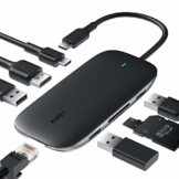 AUKEY USB C Hub 8 in 1 USB Type C Hub mit Ethernet Port, 4K HDMI, 2 USB 3.0 Ports 1 USB 2.0, 100W USB C PD Ladeanschluss, TF Micro SD Kartenleser für MacBook Pro Air, Chromebook Pixel, USB C Laptop - 1
