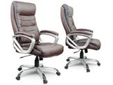 Bürostuhl Chefsessel Drehstuhl Kunstleder - braun Eago EG-226 - 1