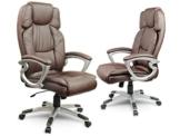 Bürostuhl Schreibtischstuhl Chefsessel Drehstuhl Kunstleder - braun Eago EG-227 - 1