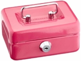 Cathedral CBPK4DE Geldkassette (Zylinderschloss mit 2 Schlüsseln), 10 cm, rosa - 1