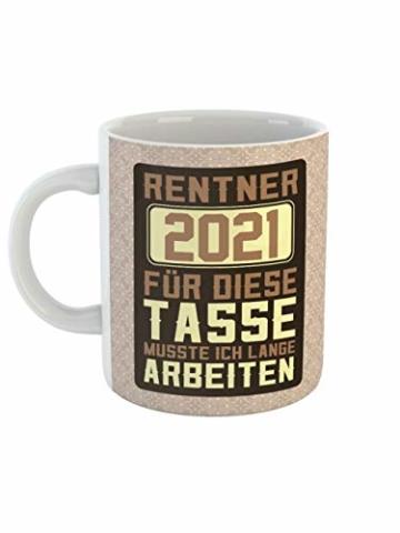 clothinx Ruhestand Rentner 2021 Tasse mit Spruch ideal Für den Renteneintritt, Pension Und Rente - 1