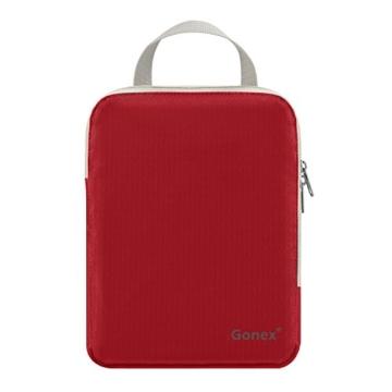 Compression Packing Cubes 3/4er Set, Gonex Kleidertaschen 4-teilig Verpackungswürfel, Kleidertaschen Set, Kofferorganizer Reise Würfel, Rot(3er), groß - 5