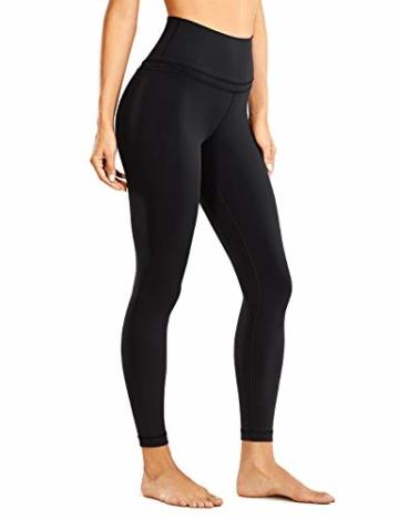 CRZ YOGA Damen Sports Yoga Leggings Sporthose mit Hoher Taille-Nackte Empfindung -63cm Schwarz 34 - 1