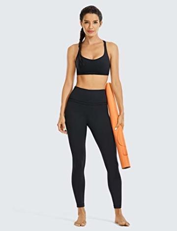 CRZ YOGA Damen Sports Yoga Leggings Sporthose mit Hoher Taille-Nackte Empfindung -63cm Schwarz 34 - 6
