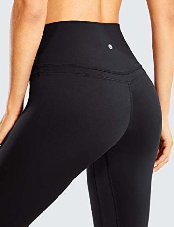 CRZ YOGA Damen Sports Yoga Leggings Sporthose mit Hoher Taille-Nackte Empfindung -63cm Schwarz 34 - 7