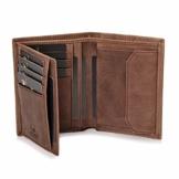 DONBOLSO® Geldbörse Wien I Großes Portemonnaie für Herren I Geldbeutel aus Leder mit RFID-Schutz I Braun - 1