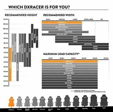 DXRacer Formula Series F11-N Gaming Stuhl aus Stoffbezug, Schwarz - 2