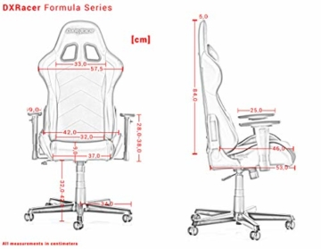 DXRacer Formula Series F11-N Gaming Stuhl aus Stoffbezug, Schwarz - 6