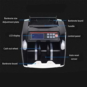 Dybory Automatischer Bargeld-Banknotenzähler Für Mehrere Währungen, LCD-Display Der Geldscheinzählmaschine Mit MG-Fälschungsdetektor, Alle Weltwährungen Und Mehr - 5