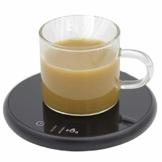 Embid Tassenwärmer, Kaffeetassenwärmer, Smart Elektrischer Getränkewärmer mit Elektrischer Heizplatte, Büro Touch-Kaffeewärmer mit Zwei Temperatureinstellungen, für Tee Kaffee Milch - 1