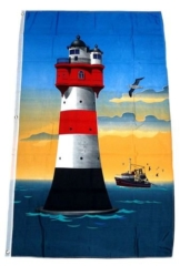 Fahne/Flagge Roter Sand Leuchtturm NEU 90 x 150 cm - 1