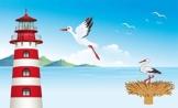 Fanshop Lünen Fahne Flagge Storch Störche Leuchtturm 90x150 cm Hissfahne mit Ösen Flaggen Hißflagge - 1
