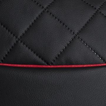 GAMEWAREZ Crimson Hurricane 2.0 Gaming Sitzsack, Made in Germany, für PS4, XBOX360, XboxOne, Nintendo DS, Nintendo Switch, Smartphone. Schwarzes Kunstleder mit rotem Keder, Tasche und Headsethalterung - 11