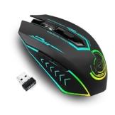 Gaming Maus kabellos, Bis zu 10000 DPI Programmierbare uhuru Gaming Mouse mit 6 Programmierbaren Tasten, 7 Wechselbaren Farben, Ergonomische Makro-MMO-RPG für PC-Computer, Laptop, Spielekonsole - 1